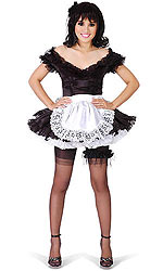 Eloise Luxury Satin French Maid