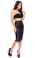 Glass-silk Pencil Skirt