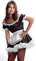French Maids Satin Pinafore