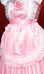 Large Satin Maids Pinafore