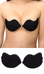 Silicone pushup Bra (black)