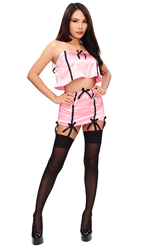 Sakiya Soft-net Seamed Stockings