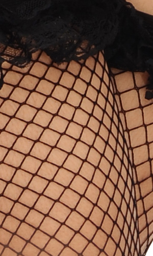 Lace-top Fishnet Stockings