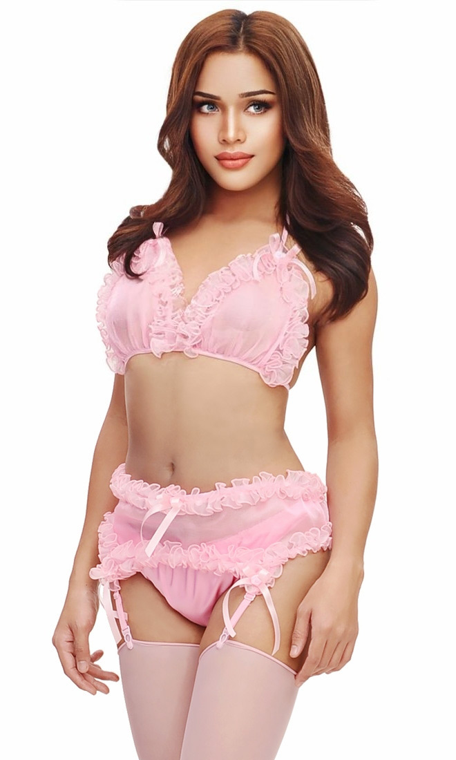 Kimmie Suspender And Panty Set-7727