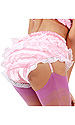 French Maid's Frilly Suspender Belt