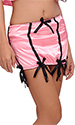 Stripes Satin Suspender Belt and Panty