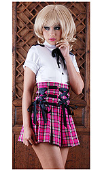 Peri high-waist Ties Skirt