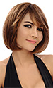 Brandy short length brown wig