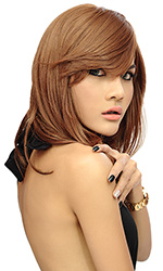Sophia long length wig BROWN with highlights