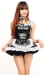 Sheyla PVC French Maid (with Petticoat)